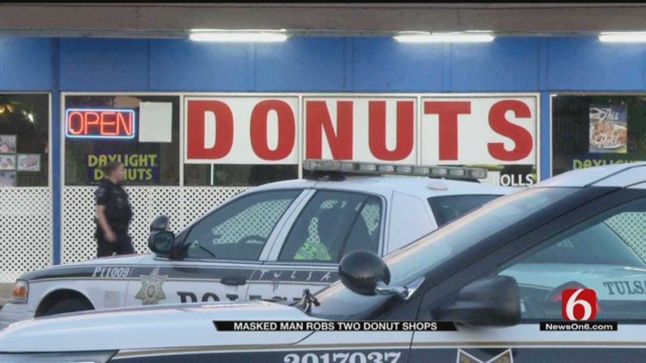 Armed Man Robs Two Tulsa Donut Shops Early Friday, Police Say