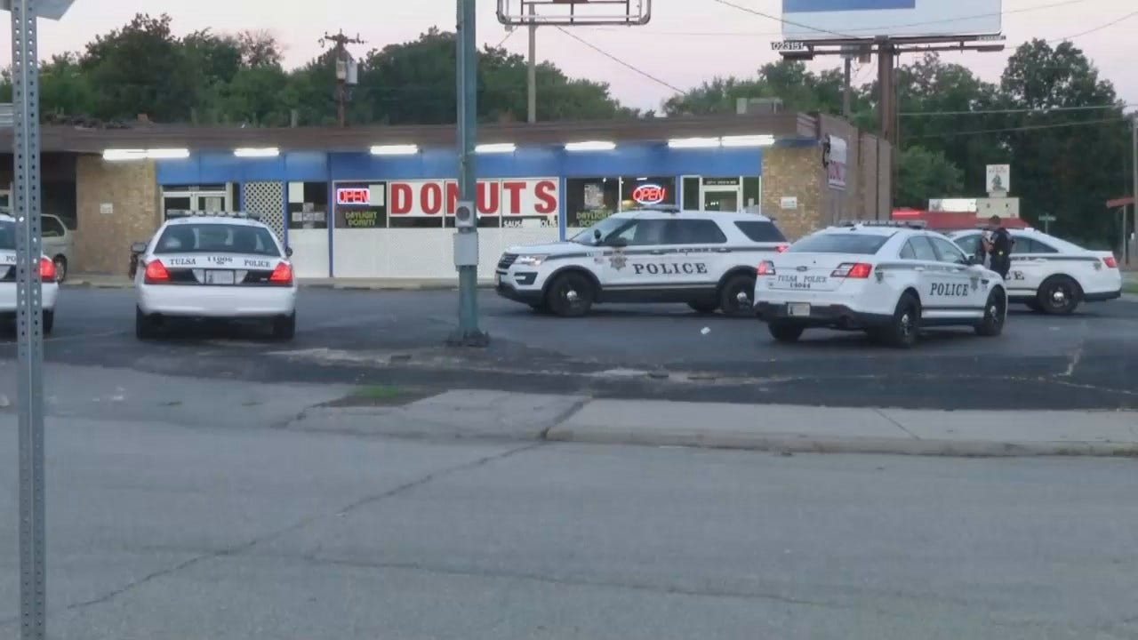 WEB EXTRA: Video From Scene Of Tulsa Donut Shop Robbery