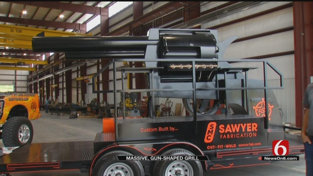 Custom Grill Sure To Have OSU Fans Shouting 'Pistols Firing'