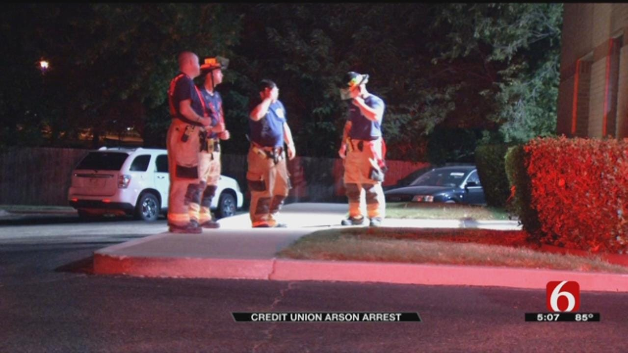 Suspected Arsonist Arrested After Two Fires Set At Tulsa Credit Union