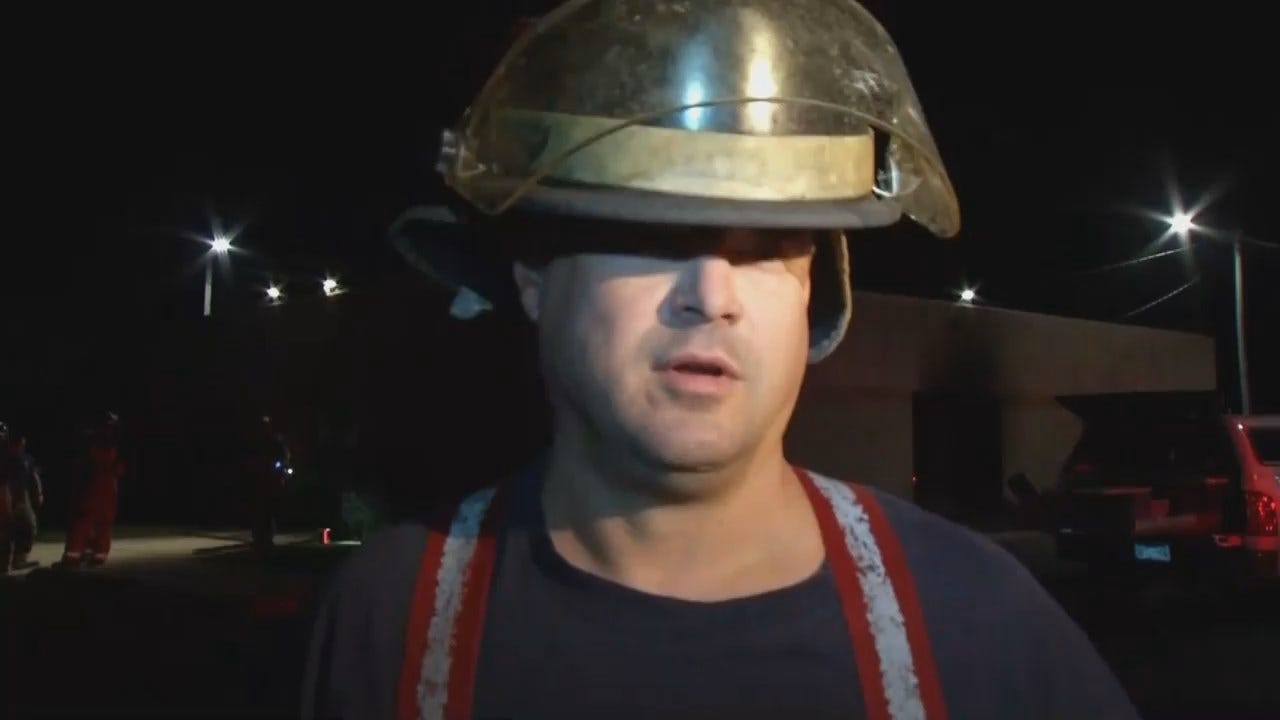WEB EXTRA: Tulsa Firefighter Travis Barnes Talks About The Two Fires