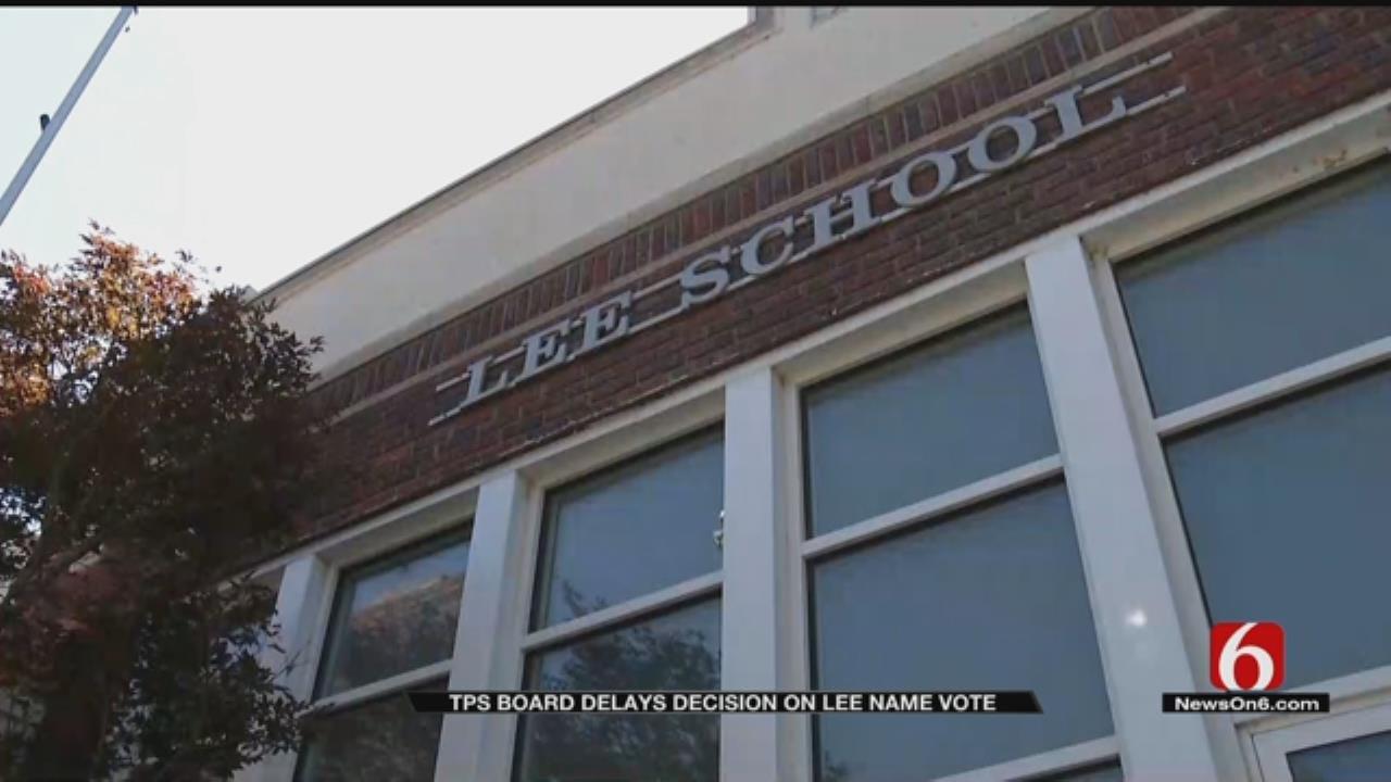 TPS Board Votes To Postpone Renaming 'Lee Elementary'
