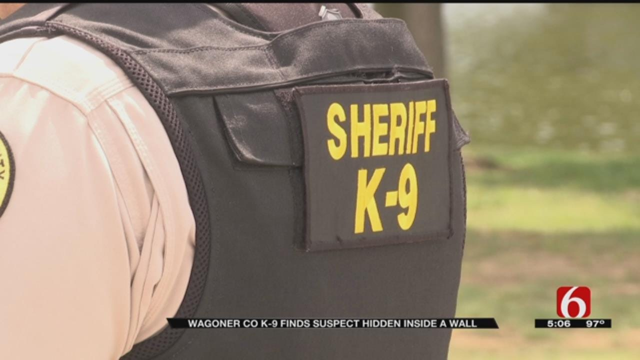 Wagoner County K9 Finds Suspect Hiding Inside A Wall