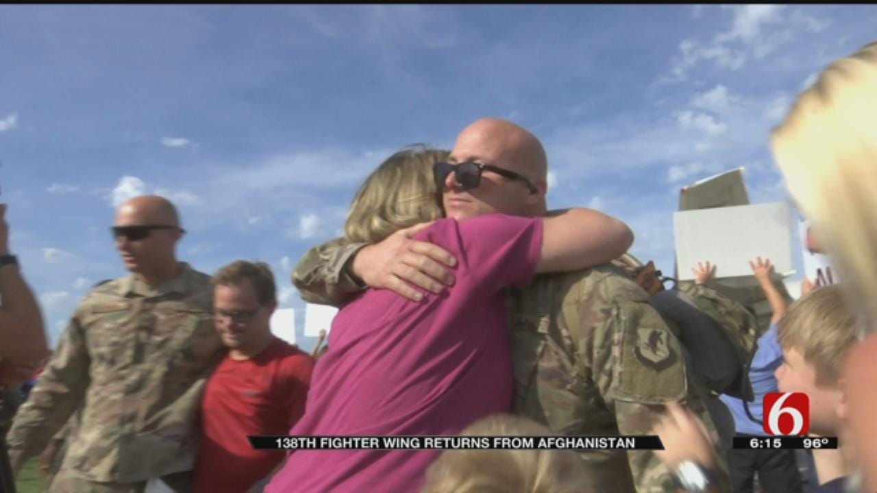 Tulsa Air National Guard Returns Home From Deployment