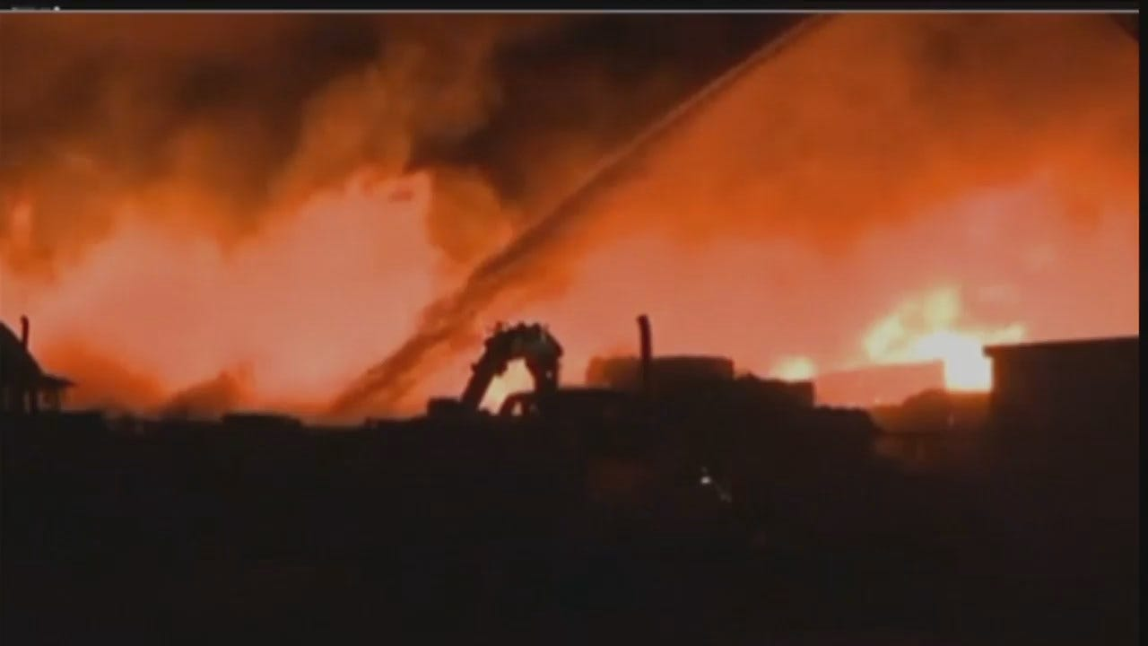 WEB EXTRA: Video Of Fort Smith Business Fire
