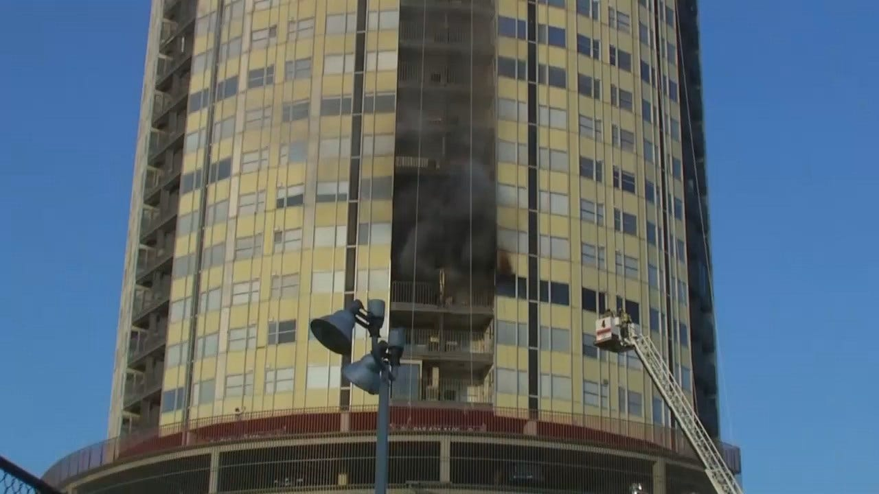 WEB EXTRA: Video From Scene Of Fire At Tulsa's University Club Apartments