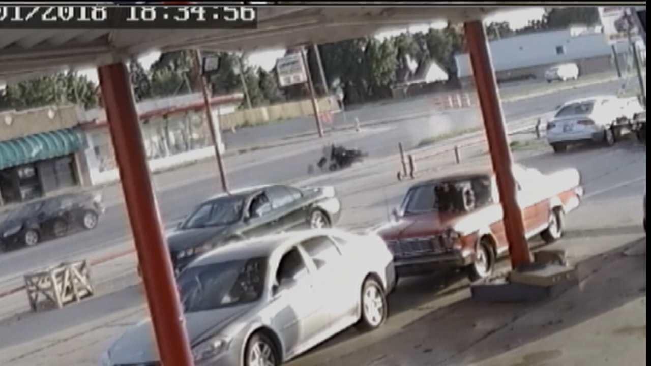 WEB EXTRA: Atlas Automotive Surveillance Video Of The Crash