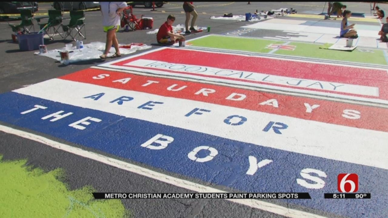 Metro Christian Academy Students Decorated Their Parking Lot