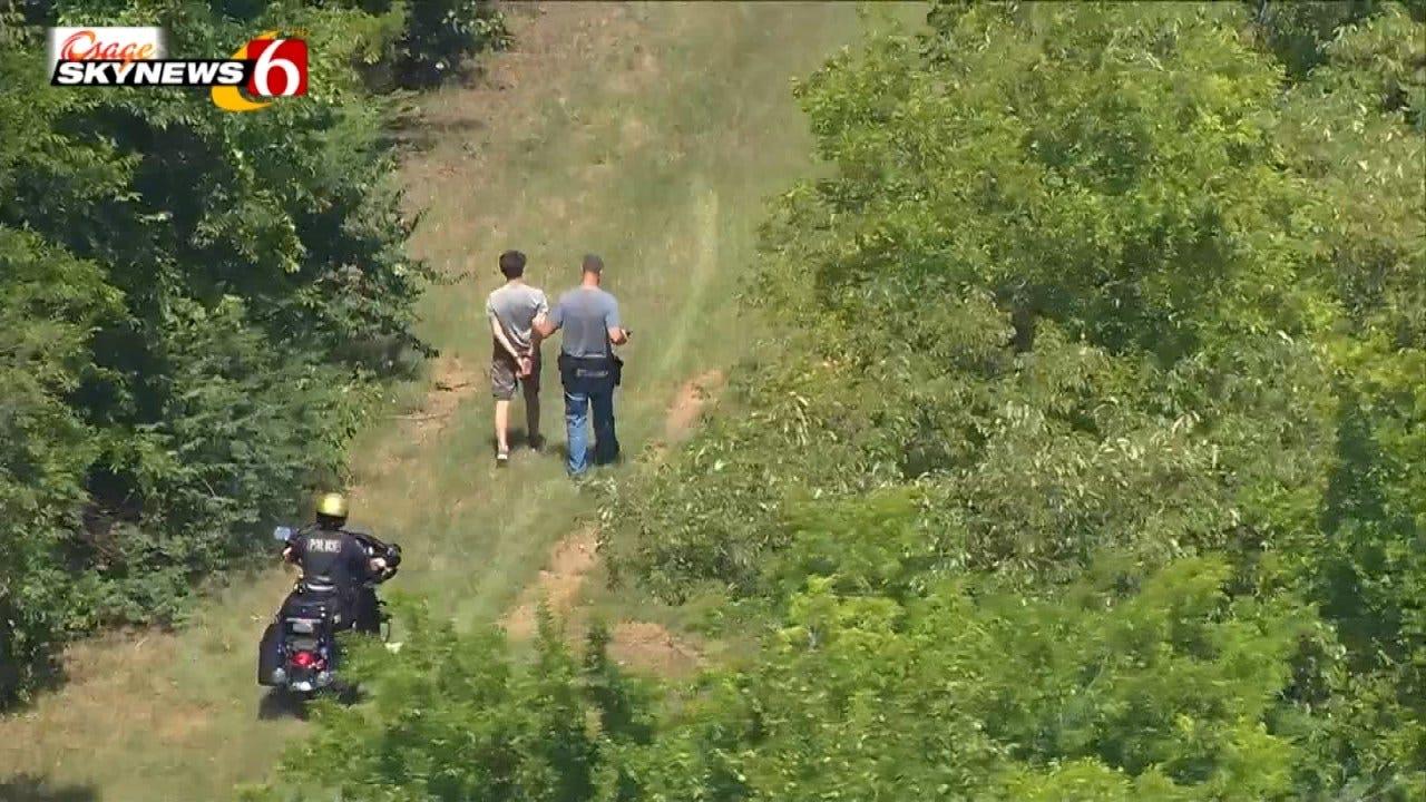 WATCH: Tulsa Police Capture Suspect In Field