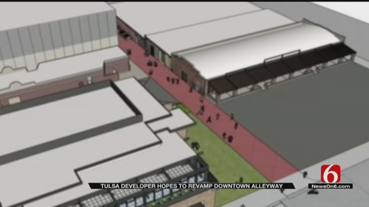 Tulsa Developer Unveils Plans For Renovating Blue Dome District Alley