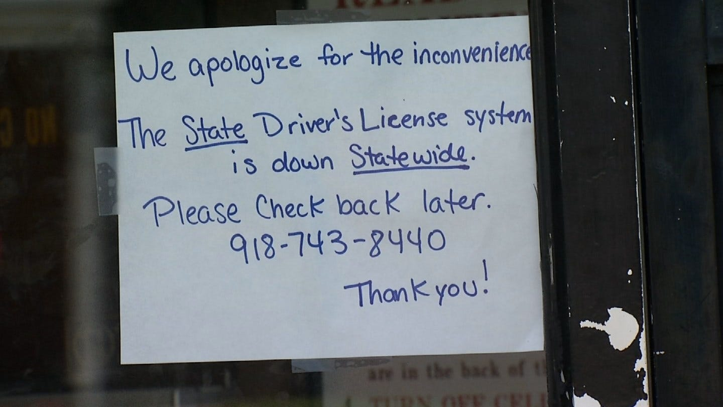 No New Driver Licenses Until Statewide Computer Problem Is Fixed