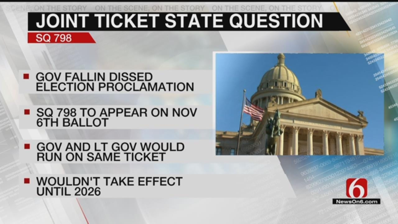 Oklahoma Voters To Decide On Joint Tickets For Future Governors And Lt. Governors