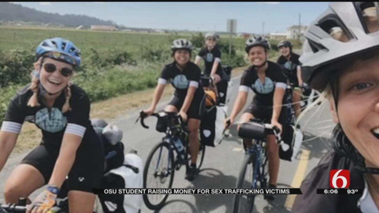 Tulsa Woman Biking Across The Country To Help Sex Trafficking Victims