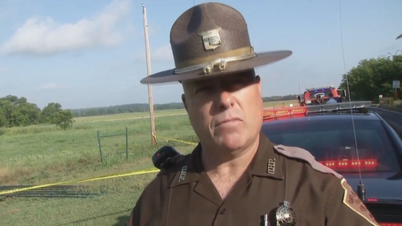 WEB EXTRA: Oklahoma Highway Patrol Trooper Russell Strirting Talks About The Crash