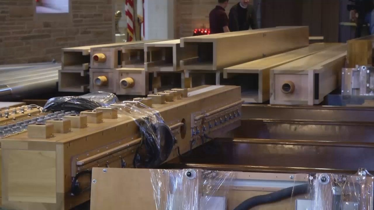 WEB EXTRA: Video Of The New Pipe Organ Being Installed