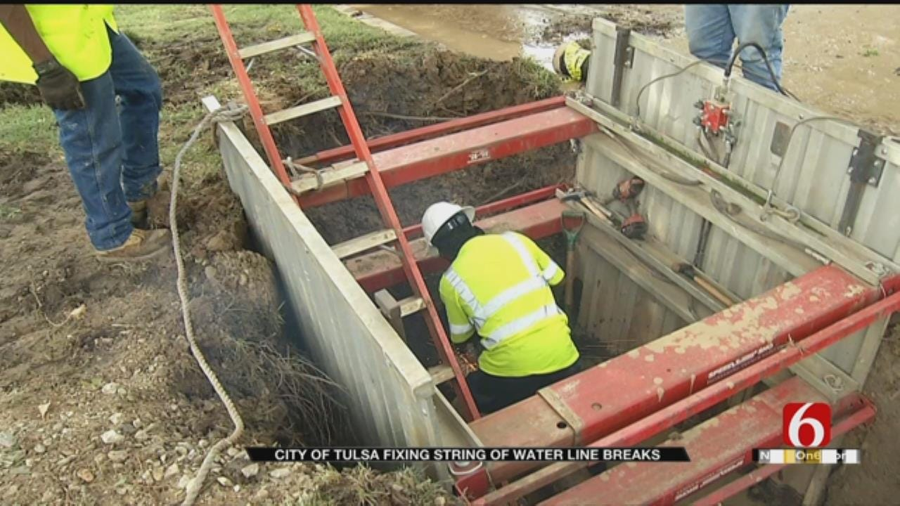 City Of Tulsa Working To Repair String Of Broken Water Lines