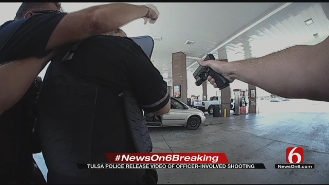 WEB EXTRA: TPD Bodycam Video Of Officer-Involved Shooting At QuikTrip