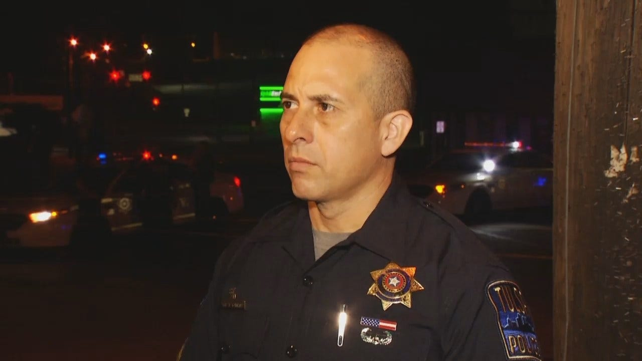 WEB EXTRA: Tulsa Police Officer Joe Gamboa Talks About 18th And Boston Shooting