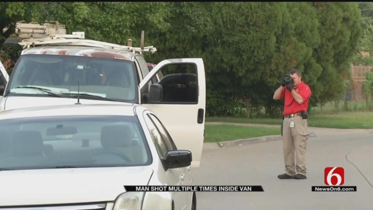 Man Found Shot Multiple Times In Van Parked On Tulsa Street