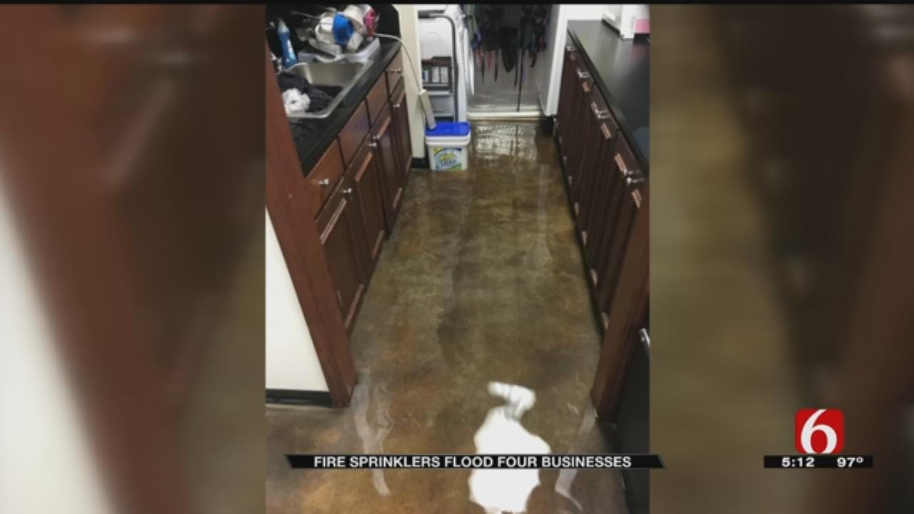 Four Tulsa Businesses Flooded Overnight