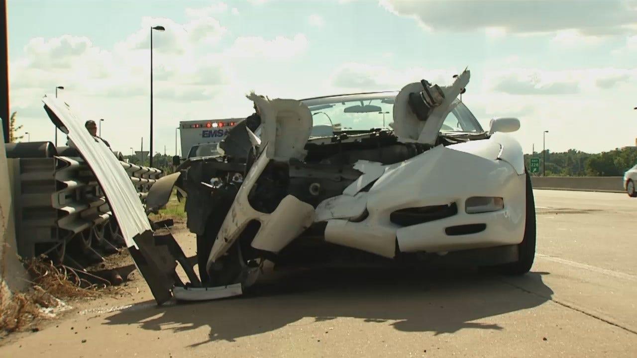 WEB EXTRA: Driver Over Accelerates, Crashes 1998 Corvette