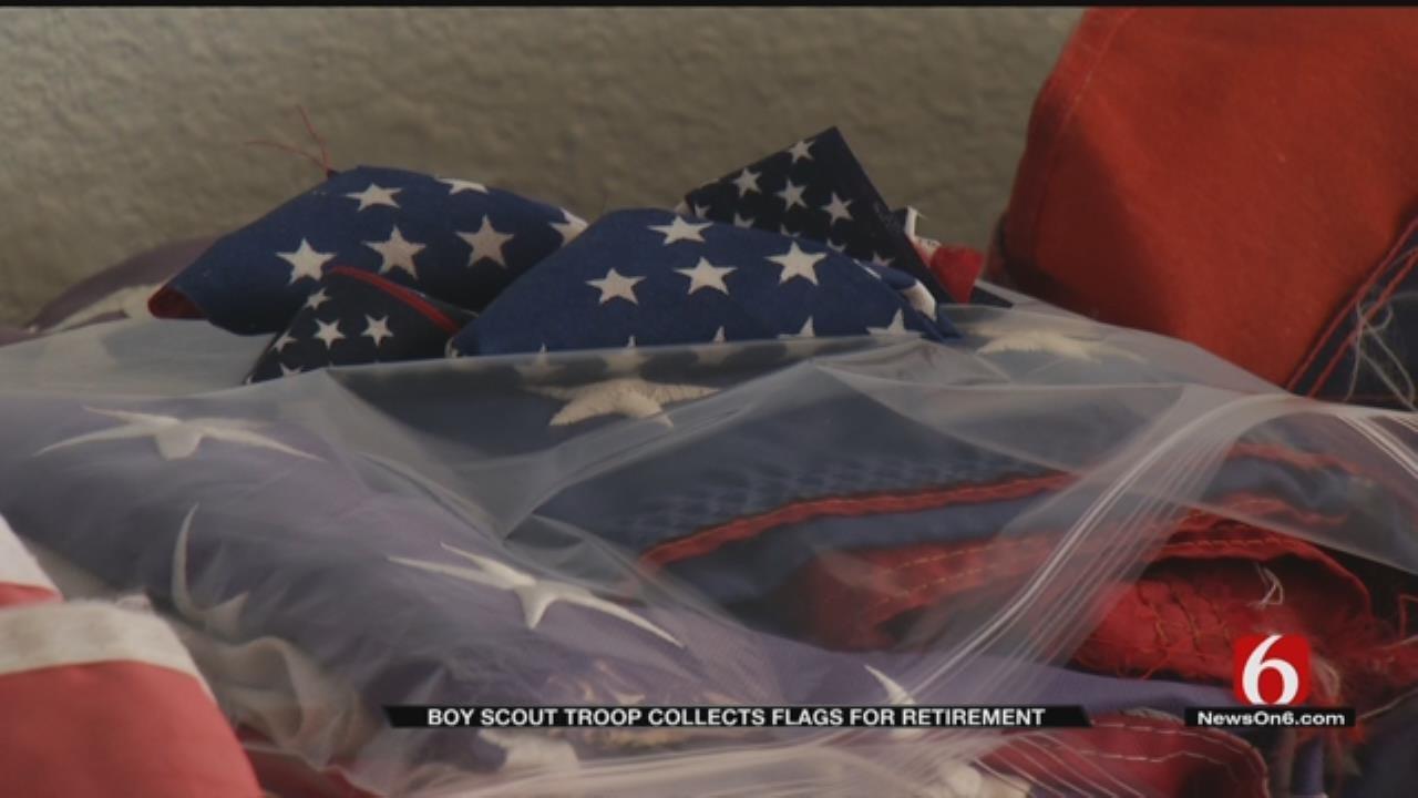 Boy Scouts Retiring Flags In Broken Arrow