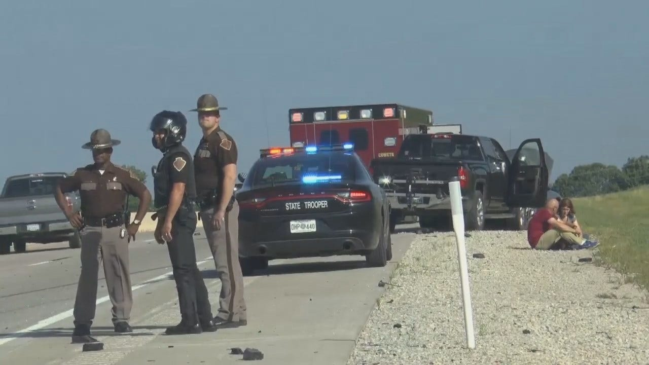 WEB EXTRA: Scenes From Fatal Crash On Muskogee Turnpike