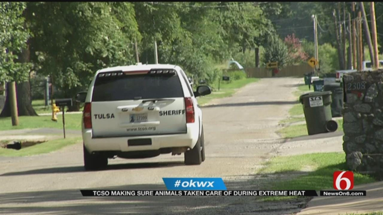 Tulsa County Deputies Working To Protect Pets Outside In The Heat