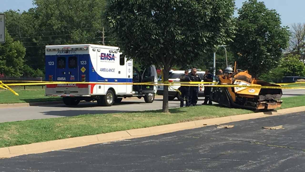 Asphalt Machine Kills Worker Outside Tulsa Marriott Hotel