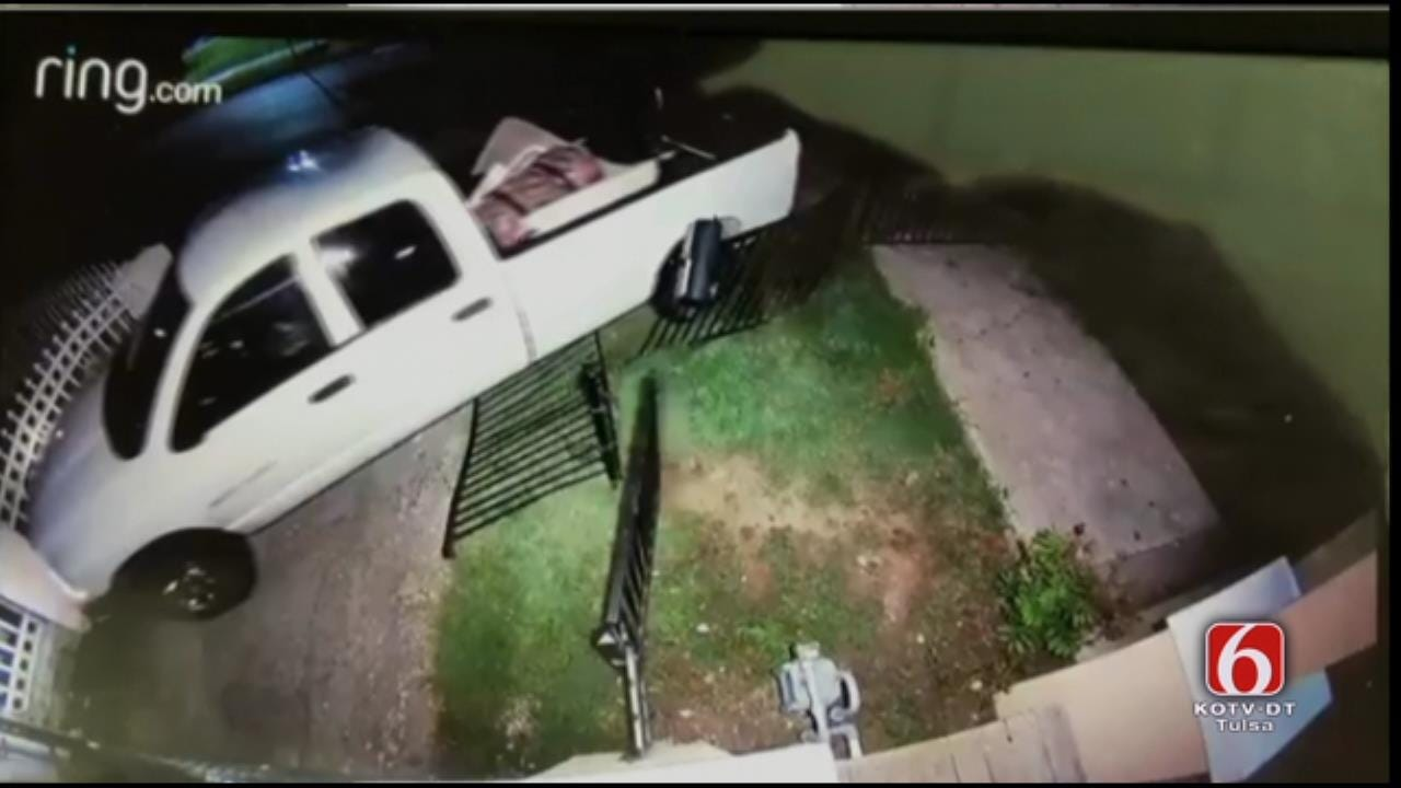 WEB EXTRA: Security Cam Video Of Crashing Truck