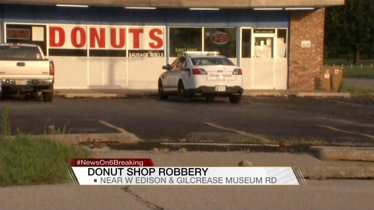 Tess Maune Reports On Armed Robbery At Tulsa Daylight Donuts