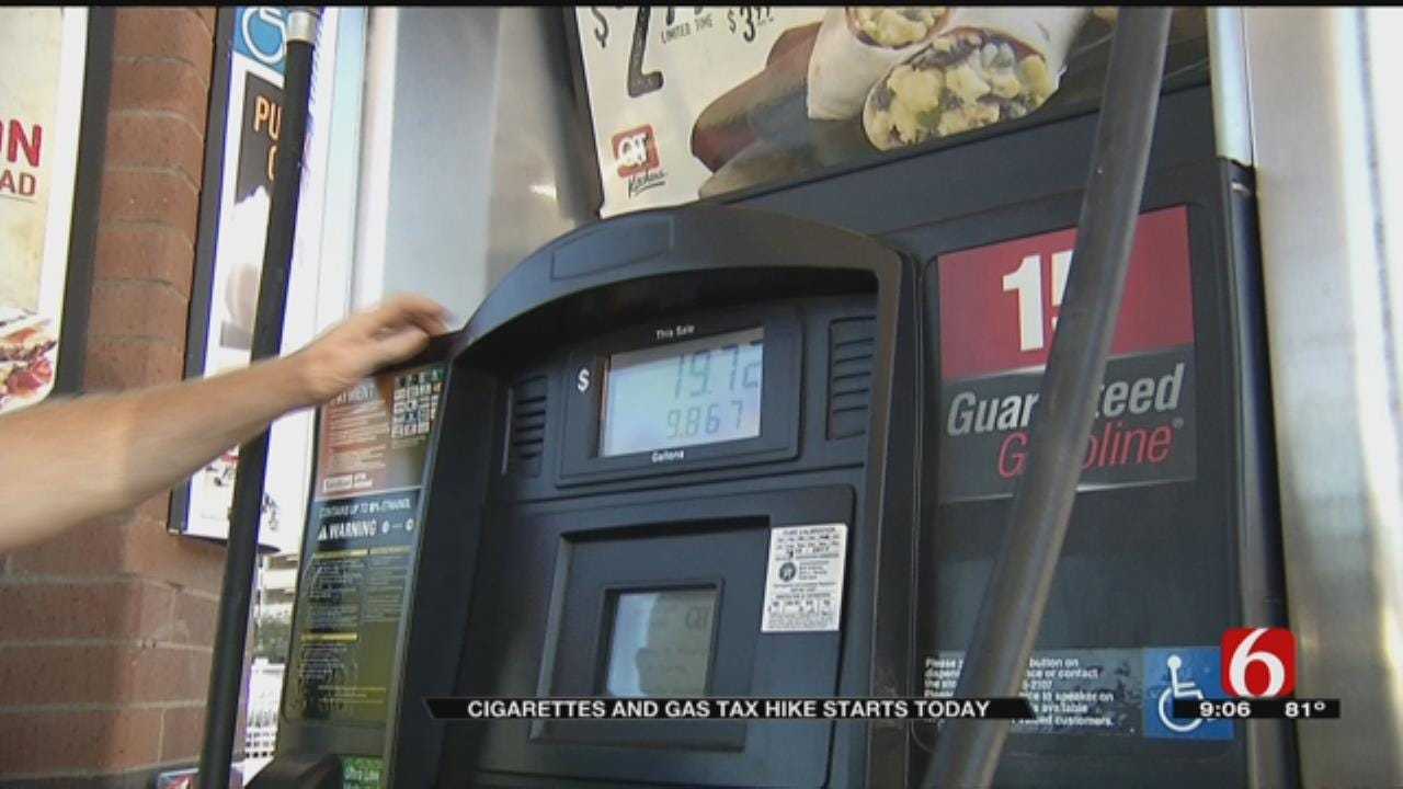 Gas And Cigarette Tax Increases Go Into Effect In Oklahoma