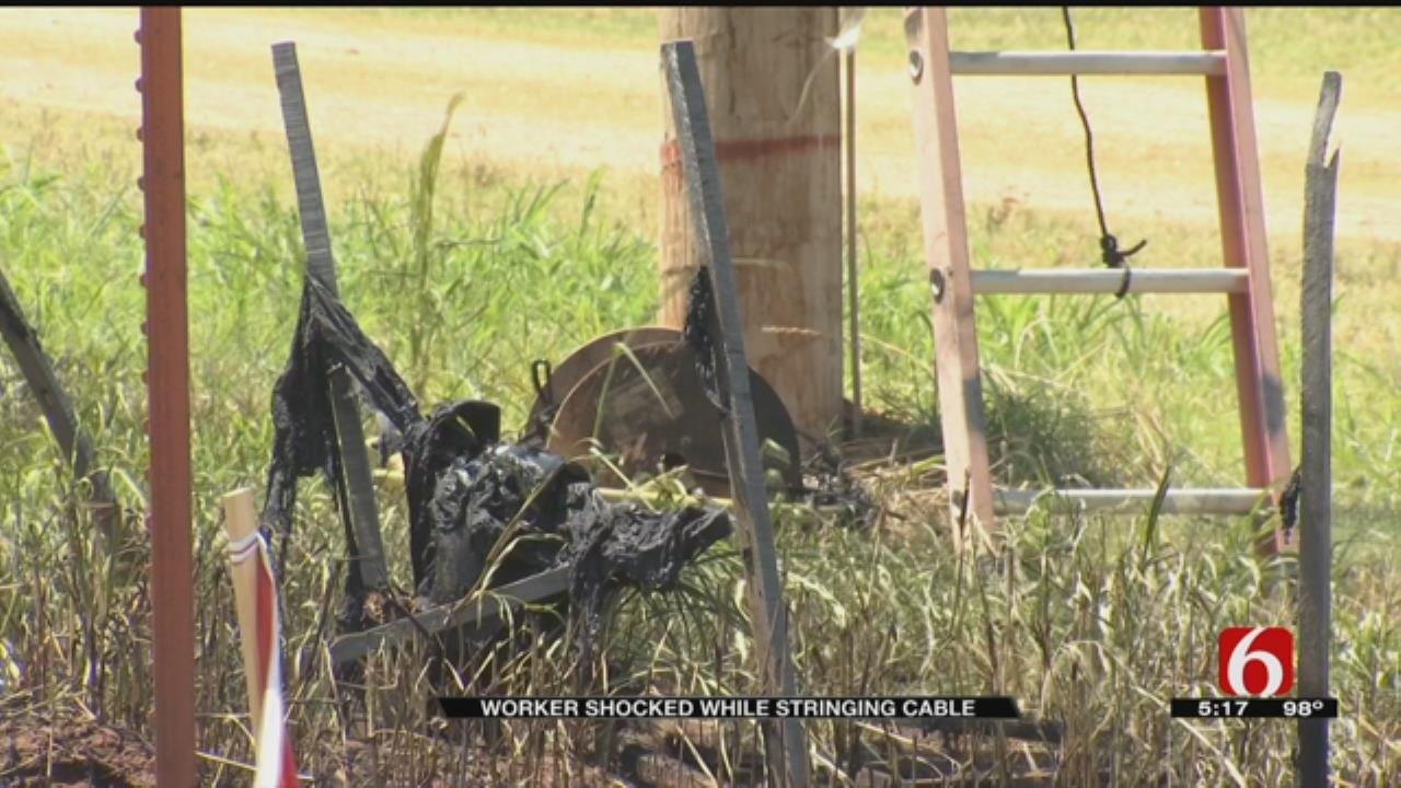 Tulsa Worker Hurt After Being Shocked By Power Line