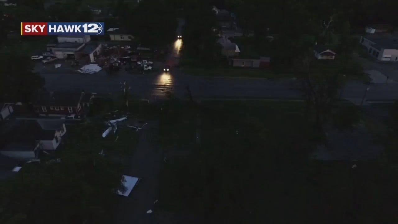 WEB EXTRA: Storm Tracker Darren Stephens Video Of Eureka Tornado Damage