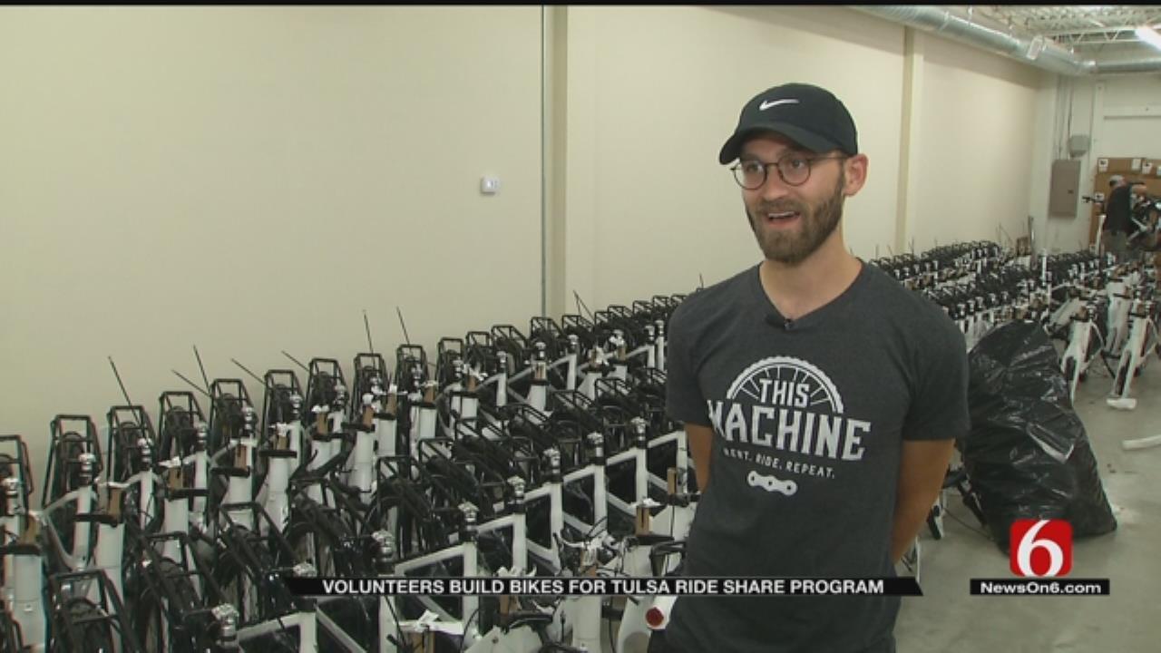 Nonprofit Group Building Bikes For Tulsa Ride Share Program