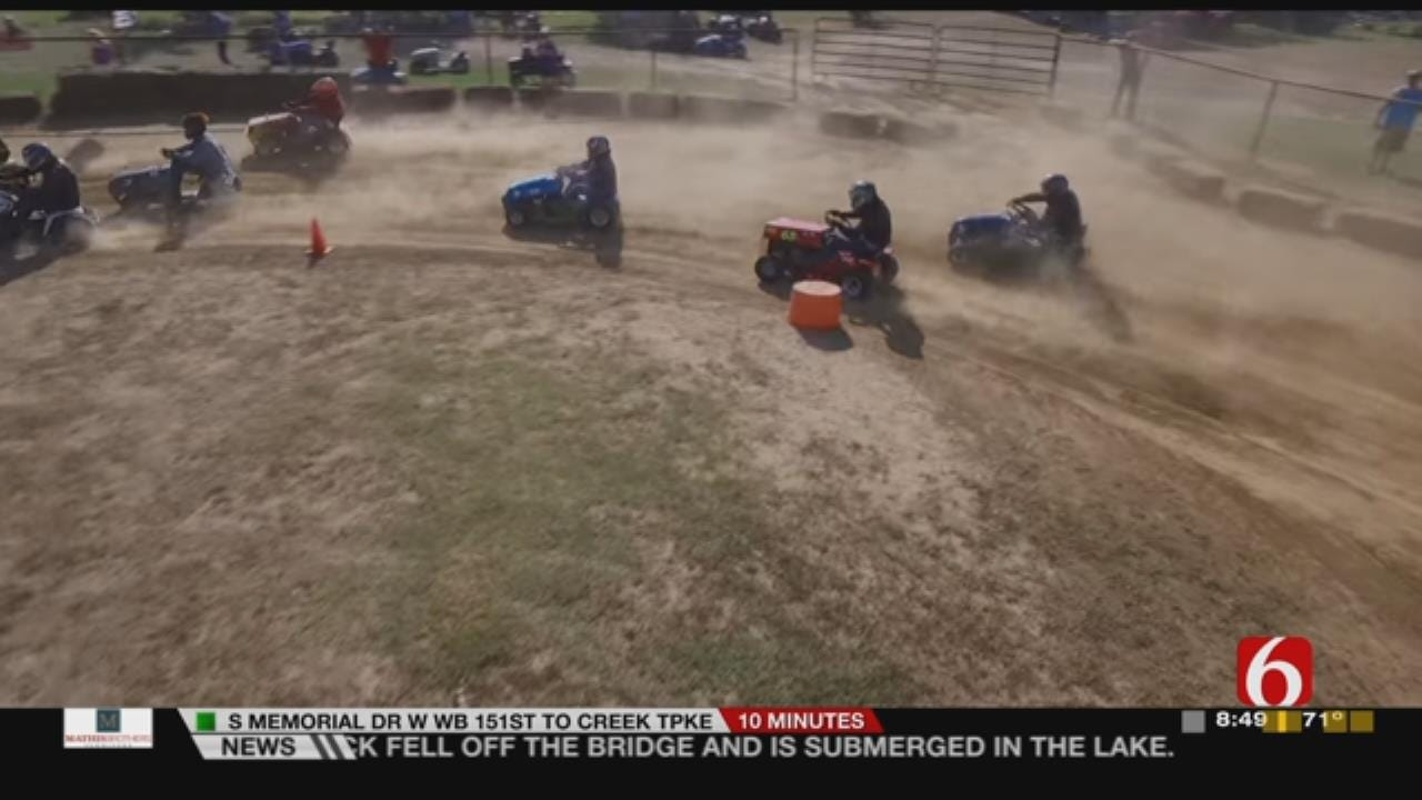 Lawn Mower Racing At Claremore's Will Rogers Downs