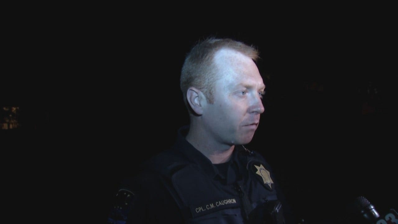 WEB EXTRA: Tulsa Police Cpl. Clifford Caughron Talks About Robbery