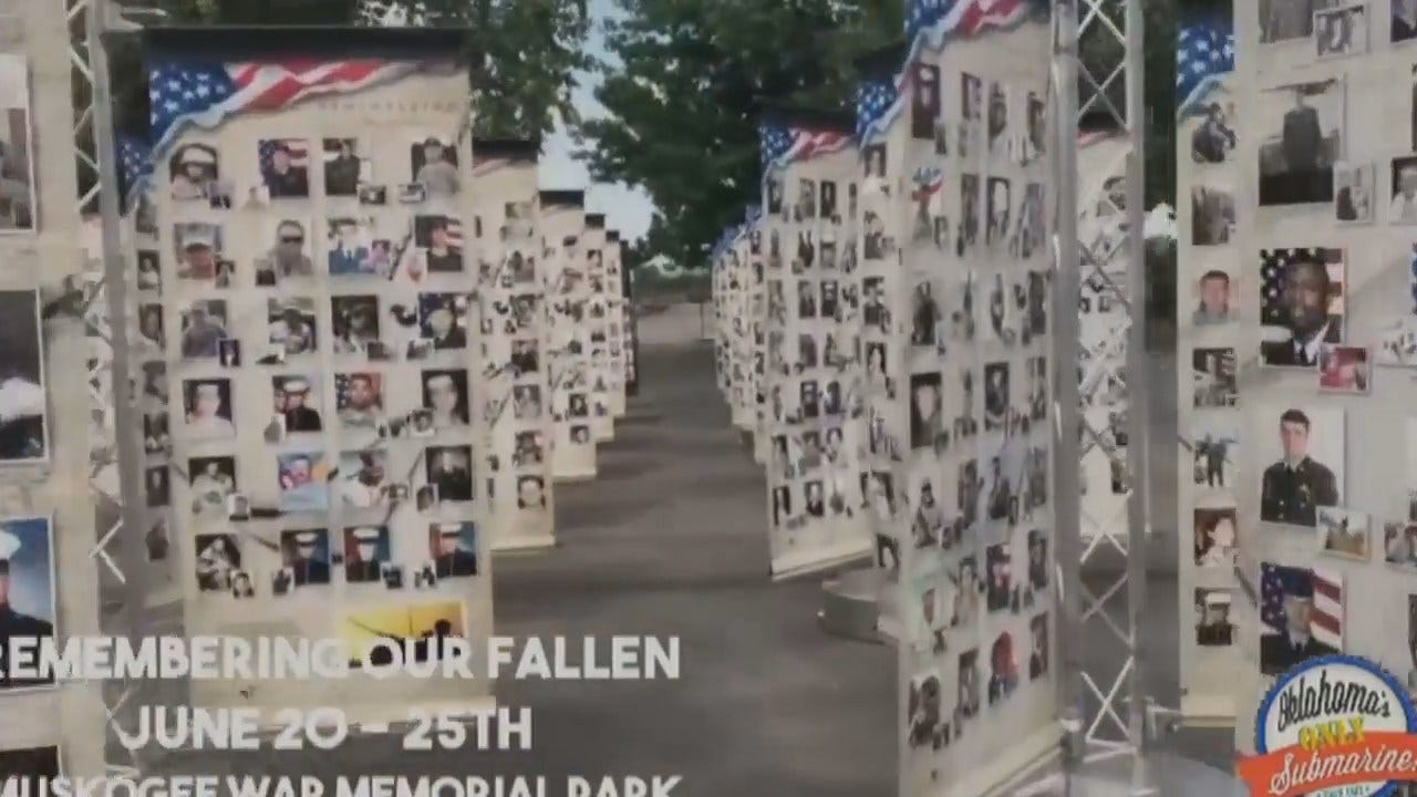 WEB EXTRA: Traveling War Memorial Stops In Muskogee