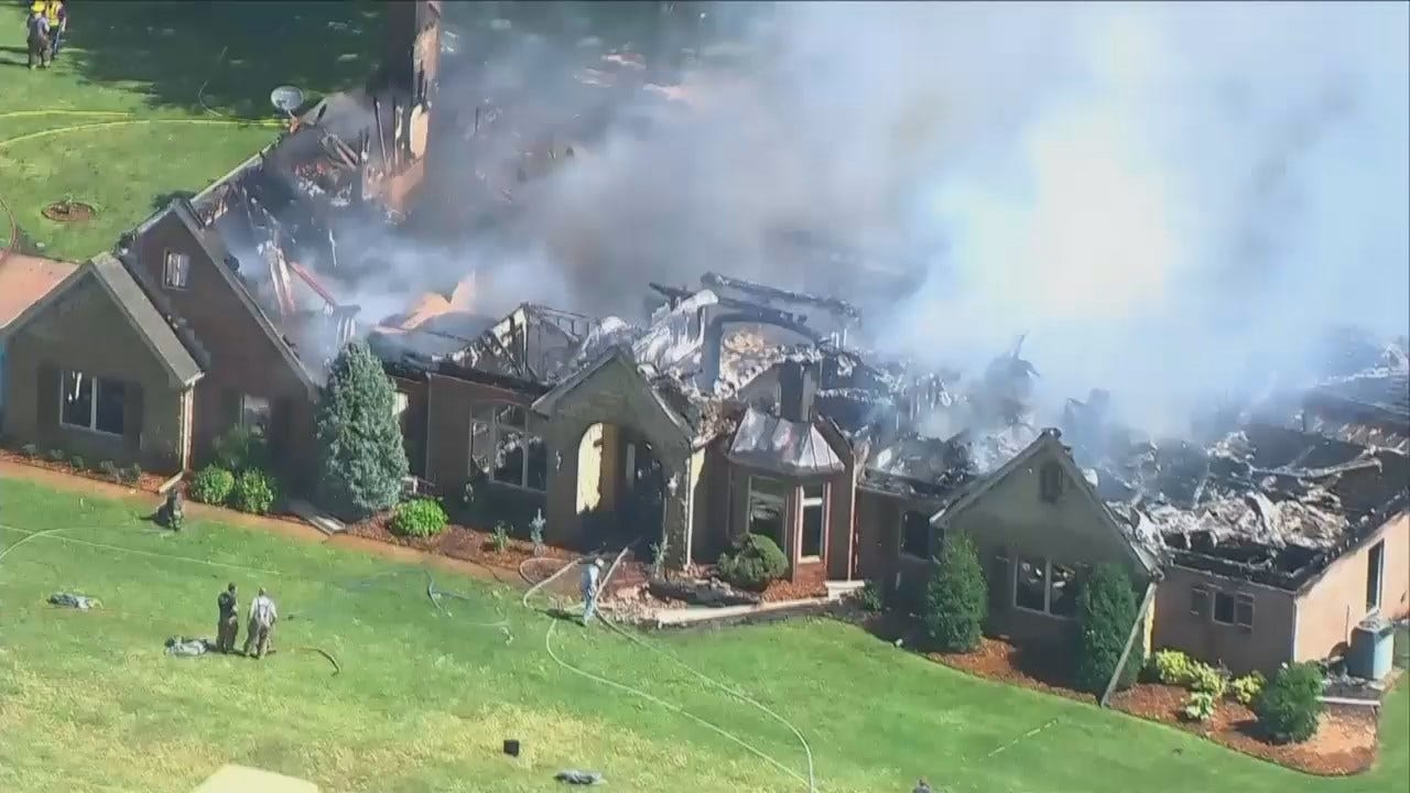 WEB EXTRA: House Fire Near Oglesby In Nowata County