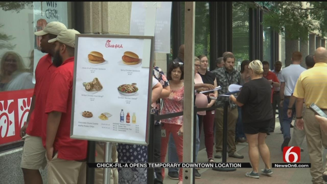 Chick-fil-A Testing New Downtown Tulsa Location, Raising Money For Kids