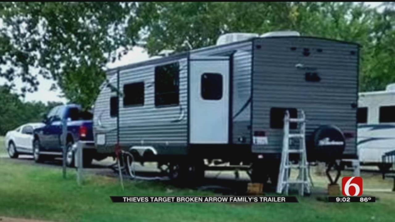 Broken Arrow Woman's Travel Trailer Stolen From Storage Unit