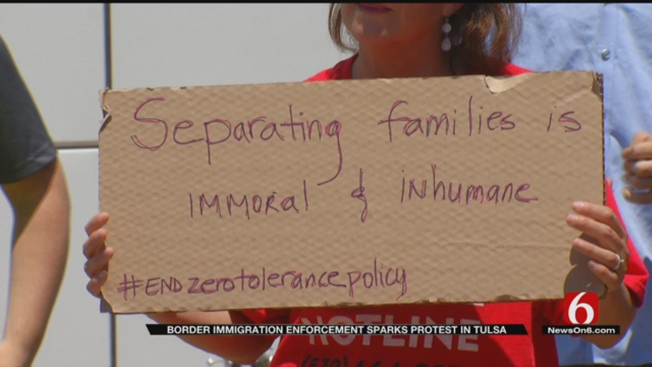Protests Held In Tulsa Over Families Separated By Immigration Policy