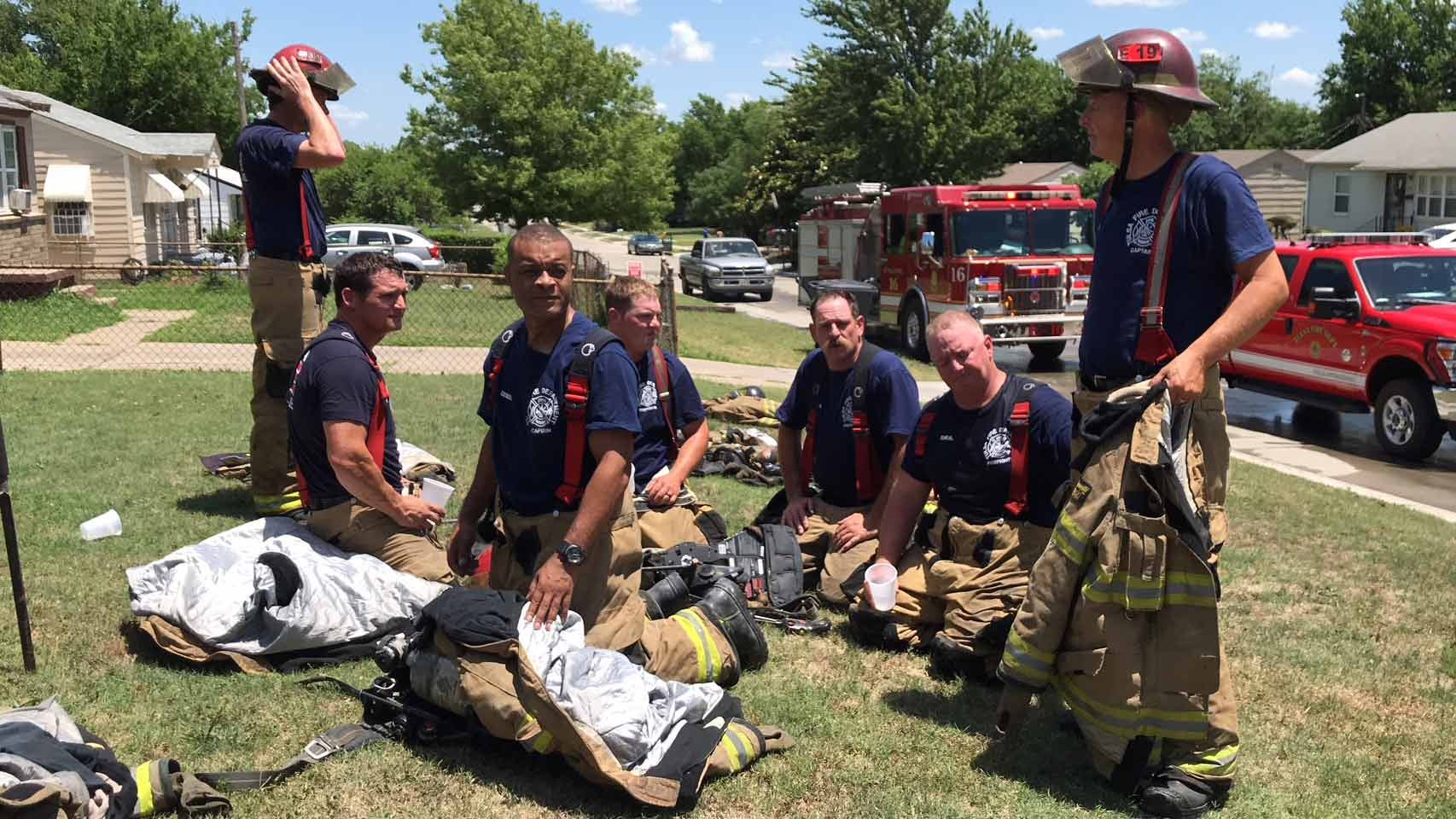 Emory Bryan: Firefighters Battle Heat As Well As Fire
