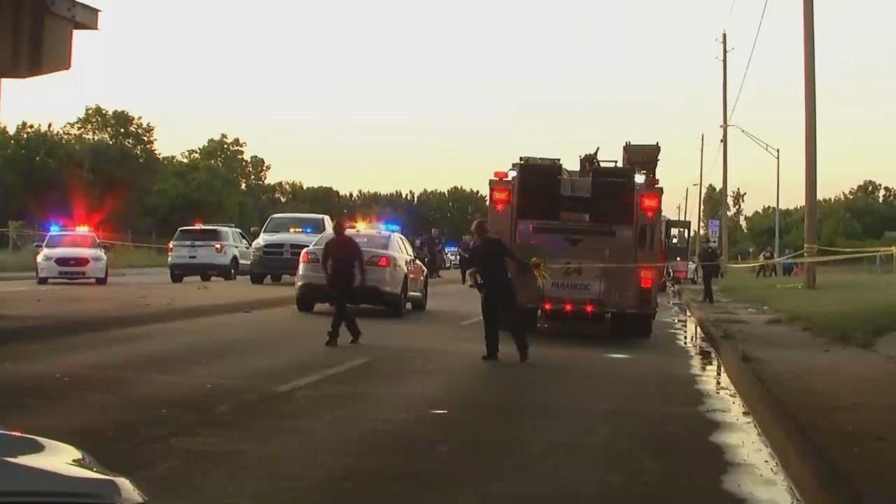 WEB EXTRA: Video From Scene Of Tulsa Fatality Crash