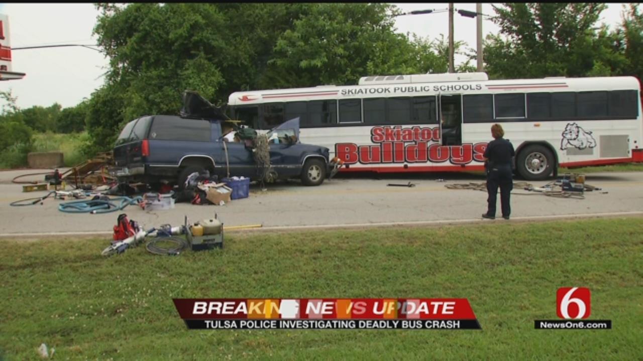 One Killed In Crash Involving Skiatook School Bus