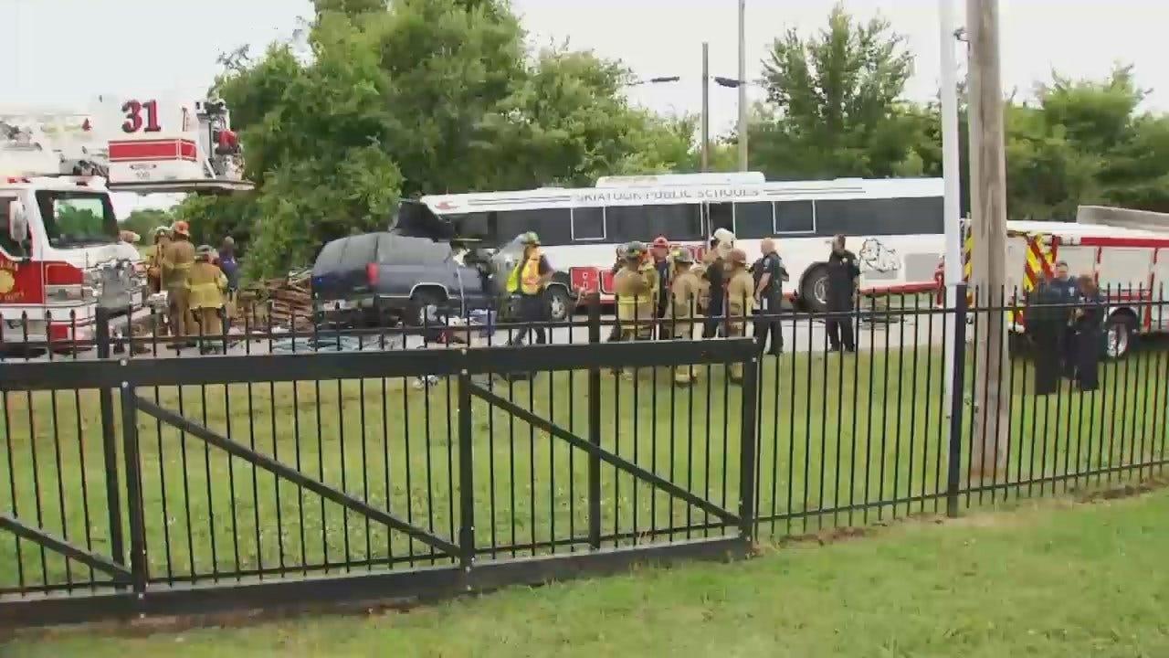 WEB EXTRA: Scenes From Fatal Crash Involving Skiatook Bus