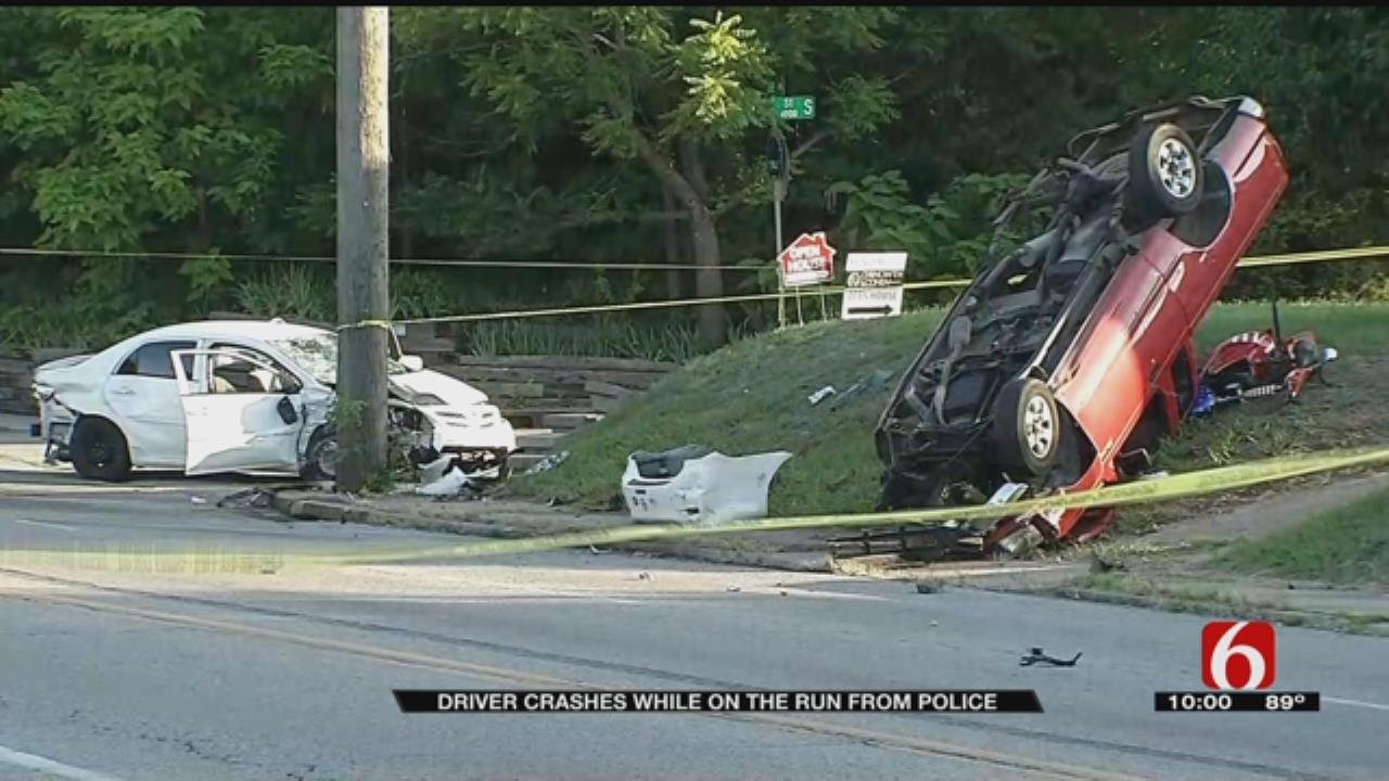 Tulsa Police Pursuit Of Stolen Truck Ends With Dangerous Crash
