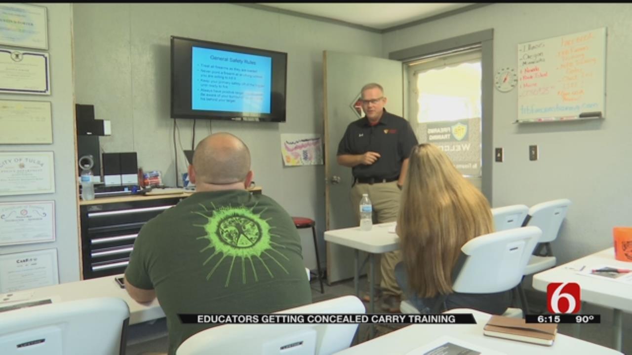 Sand Springs Teachers Take Firearm Training From Mannford Principal