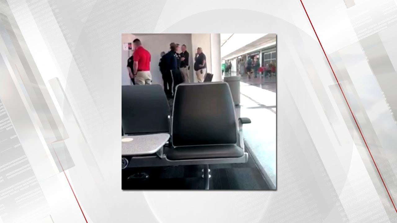 ARREST VIDEO: A Man Was Taken Into Custody After A Plane Was Diverted To TIA