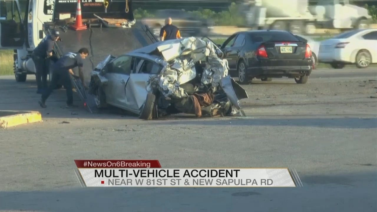 Witness Describes Rollover Wreck On New Sapulpa Road